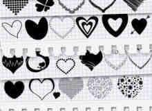 浪漫涂鸦宣扬爱情的爱心PS笔刷下载