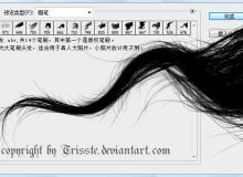 飘逸真实的女式长发、头发PS笔刷