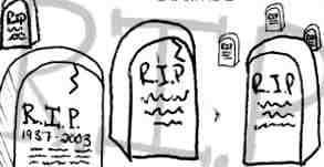 手绘涂鸦墓碑笔刷