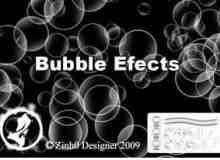 透明效果圈圈泡泡、气泡PS笔刷