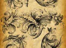漂亮的立体手绘花纹装饰笔刷