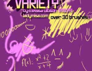 可爱数学箭头涂鸦笔刷