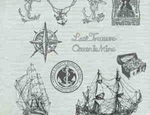手绘式海盗船PS笔刷
