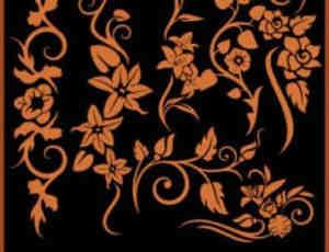 漂亮的植物花纹藤蔓PS笔刷下载