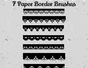 剪纸花纹式边界花纹笔刷