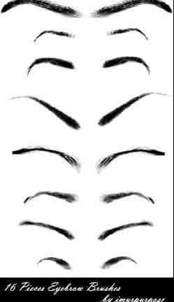 人物化妆之眉毛PS笔刷