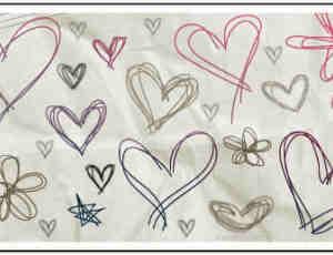 各种可爱的涂鸦爱心PS笔刷 #.3