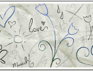 可爱手绘简单涂鸦花纹图案PS笔刷