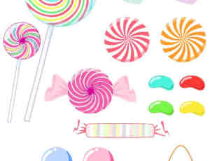 卡哇伊糖果、漂亮棒棒糖素材-美图秀秀素材