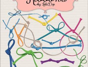 各种绳子、绳结PS笔刷