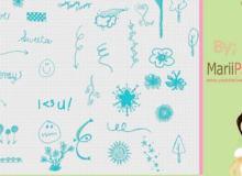 可爱手绘涂鸦照片装饰PS素材笔刷