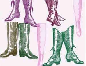 女式长靴、靴子、鞋子PS笔刷