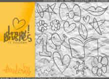 手绘童趣涂鸦照片装饰元素PS笔刷