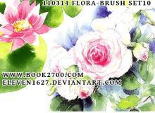水彩、水粉花朵PS笔刷