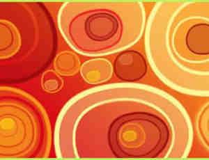 矢量七彩圆圈背景装饰元素笔刷