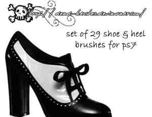 29款真实的女式高跟鞋、凉鞋PS笔刷素材