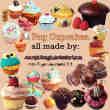 22个美味的小蛋糕照片美化素材-【美图秀秀素材】
