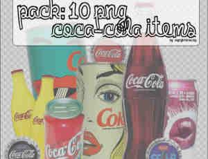 可乐饮料瓶照片美化素材-【美图秀秀素材】