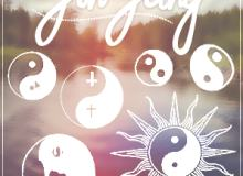 太极阴阳图案符号PS笔刷素材