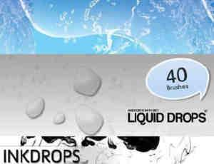 12个水效果系列Photoshop笔刷打包下载
