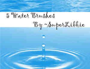 水滴、海平面纹理、水花Photoshop笔刷素材免费下载