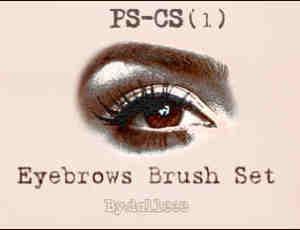 七种不同的眉毛、画眉、描眉效果PS笔刷