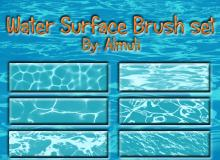 水表明波纹、水面纹理效果Photoshop笔刷下载