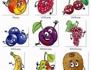 可爱卡通水果图片素材-美图秀秀素材 #.2