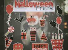 卡通万圣节饮料、蛋糕、气球等图片素材-【美图秀秀素材】