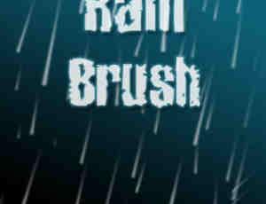 仿真模拟下雨场景气氛photoshop笔刷素材