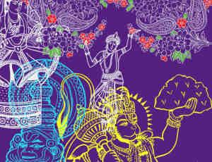 手绘印度神佛像photoshop笔刷素材下载