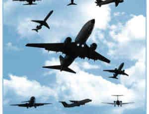 10架不同姿势的客机、飞机Photoshop笔刷素材