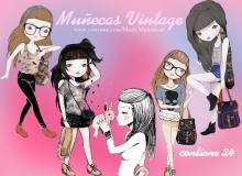 24个漂亮的卡通女孩照片美化素材-【美图秀秀素材】
