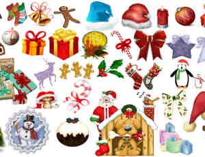 160个圣诞节相关的照片美化素材-【美图秀秀素材】