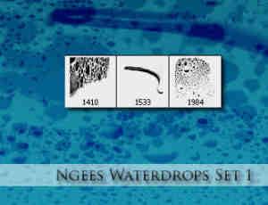 水滴纹理、露珠效果photoshop笔刷下载