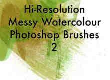 高品质超清水墨、水彩、水粉photoshop画笔笔刷下载