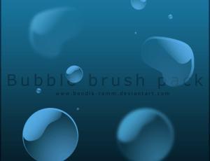 晶莹水滴、水珠子、气泡效果Photoshop笔刷素材