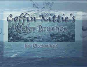 又一个水效果、水滴、水面Photoshop笔刷素材