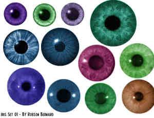 美瞳、眼瞳、眼珠子photoshop笔刷素材