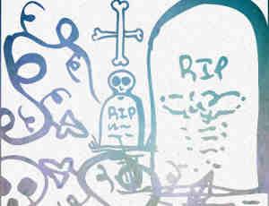 手绘涂鸦墓地photoshop笔刷素材