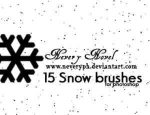 雪花与雪景背景效果photoshop笔刷素材