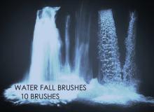 真实的10种瀑布流水效果Photoshop笔刷素材下载