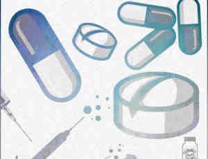 卡通药片、药丸、打针图形photoshop笔刷素材