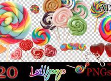 可爱棒棒糖照片装饰美化素材-【美图秀秀素材包】