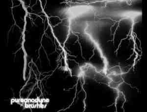 雷电风暴、闪电PS素材笔刷下载