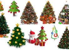 可爱圣诞树照片美化素材包-美图秀秀-可牛影像