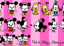 米老鼠、米奇、米妮卡通形象照片装饰素材-美图秀秀素材包