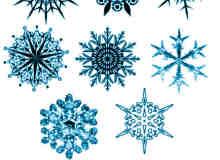 8个经典的民族特色花纹、雪花图案photoshop笔刷素材