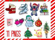 可爱卡通圣诞元素照片装饰素材-美图秀秀-可牛影像素材包