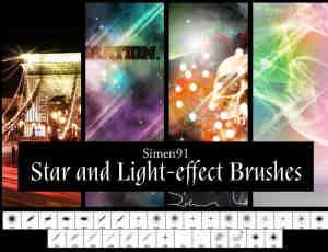 光线、光斑照射和闪耀效果photoshop笔刷素材